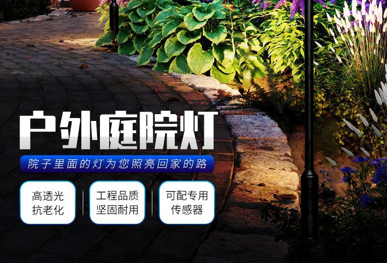 户外LED庭院灯 花园别墅小区路灯 高杆景观灯150W